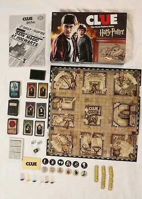 Harry Potter Clue Board Game COMPLETE with Moving Hogwarts Gameboard