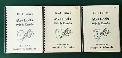 Karl Fulves Methods With Cards Trilogy *RARE*