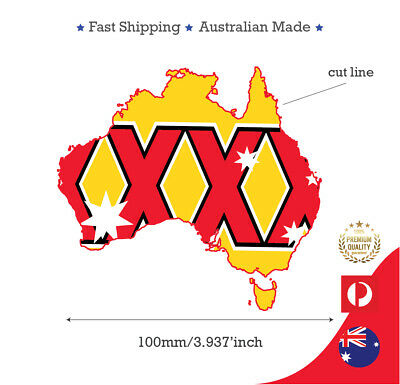 Xxxx Gold Beer Australian Map Southern Cross Sticker Decal