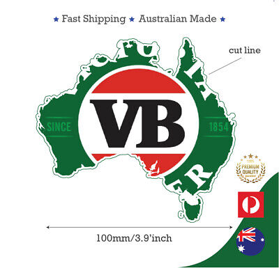 Vb Victorian Bitter Beer Australian Mapsticker Decal