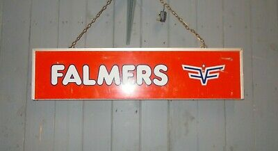 Vintage Retro Illuminated Falmers Jeans  Double sided Hanging Sign Shop Display