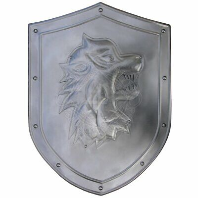 Medieval Wolf Decoration Shield with coat of arms Warrior Knight Shield