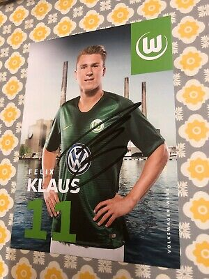 Felix Klaus Vfl Wolfsburg Signed Photo