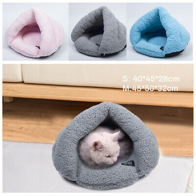 Pet Cat Dog Nest Bed Puppy Soft Bag Mat Pad Warm Cave Bed House Winter Sleeping