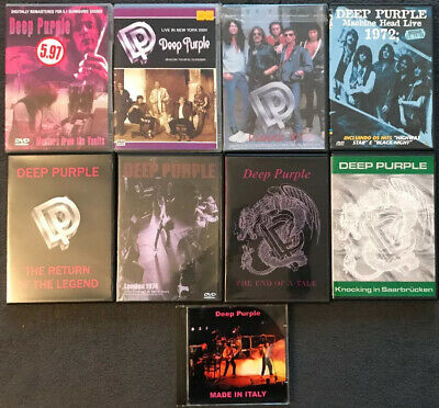 Job Lot Of 9 Deep Purple Dvds And Cds