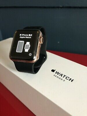 Apple watch series 3 38mm rose gold GPS pink sand sport band wxcellent condition