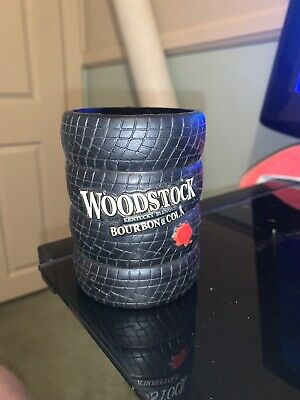 Woodstock Bourbon And Cola Stubby Holder,Woodstock Bourbon Tyre Stubby Holder