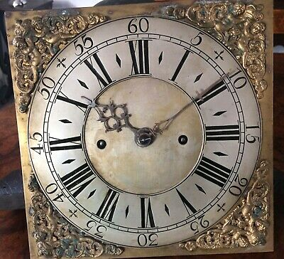 A Ten Inch Brass Dial 8 Day Longcase Movement