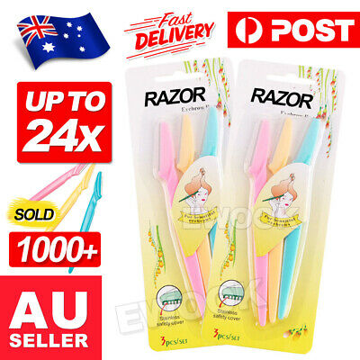 Up 24x Facial Eyebrow Razor Trimmer Shaper Shaver Blade Knife Hair Remover inkle