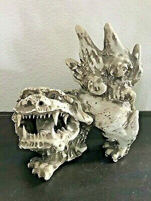 Antique Haji Ware Mid-Meiji Period Foo Dog Figurine