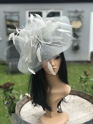 Stunning Silver Grey Crin Hatinator Hat Weddings Ascot  Mother Of The Bride