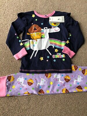 Tu Clothing Hey Duggee Girls Pyjamas 4-5 Unicorn Rainbow