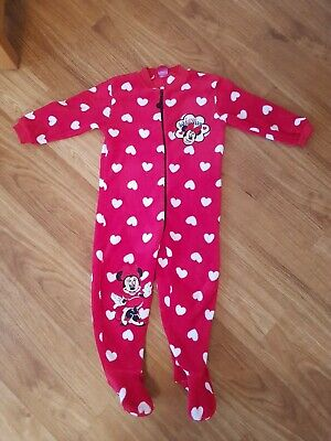 Girl's Minnie Mouse Disney 1Onesie All In 1 Pyjamas 3-4 Years Boots Miniclub