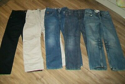 Lot of 5 pairs of boys jeans/trousers.7 y,7/8 y.Next,Joules,Gap.New and used.