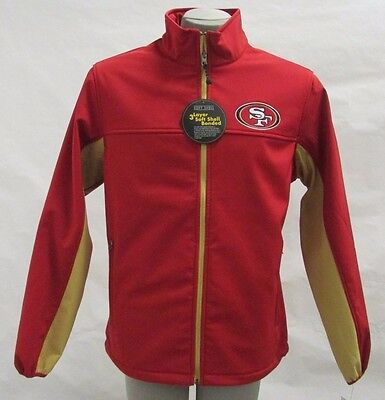 San Francisco 49ers NFL Men's Red Full Zip Therma Base Soft Shell Jacket