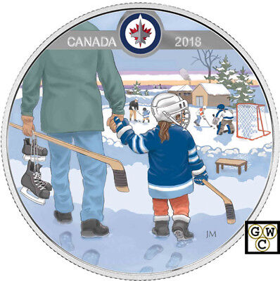 2018 Winnipeg Jets(TM)-Passion to Play'Prf $10 Silver Coin 1/2oz .9999(18246)NT