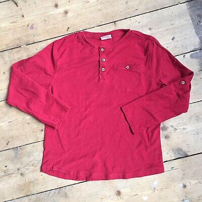 Zara Boys Casual Red Top Age 6 Years Long Sleeved