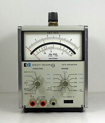 Hewlett Packard 427A Voltmeter with Option 1 - Tested Fully Functional