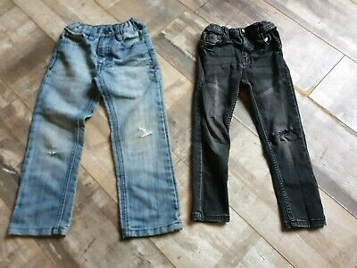 2 X Boys Jeans with Adjustable Waist Age 5-6 Years by Primark & TU