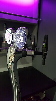 Twin Chrome Illuminated Beer Tap Pump Font