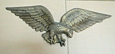 """Vintage Brass Eagle Plaque Wall Hanging 24"""""""