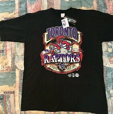 RARE VINTAGE 1994 Toronto Raptors NBA Mens XL Black Shirt NWT MINT BRAND NEW