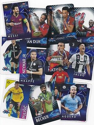 Topps Crystal Uefa Champions League 2018/19 Football Cards Choose Your Players