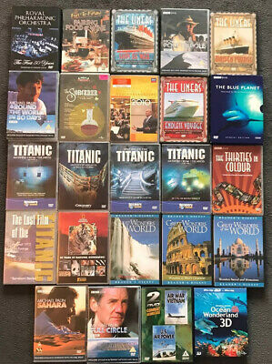 Job Lot Of 24 Travel And Music Dvds