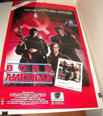 1986 BORN in AMERICA VIDEO MOVIE PROMO ADVERTISING POSTER MIKE NORRIS ACTION