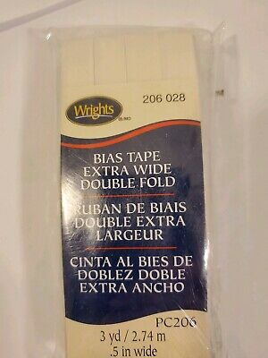 3-Pack Double Fold Bias Tape 1//4 inch x 4 Yard Red 117-201-065 Wrights