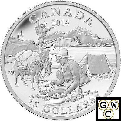 2014 'Gold Rush - Exploring Canada' Proof $15 Silver Coin .9999 Fine(13973) OOAK