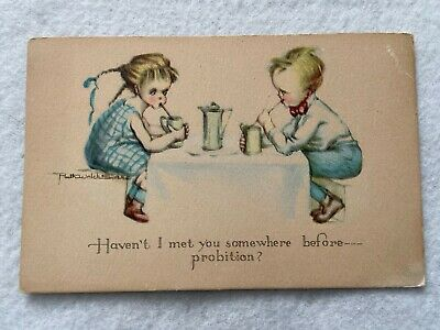 Haven't I met you somewhere before...Prohibition? Vintage Postcard