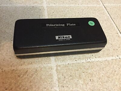 Nikon Microscope Polarizing Tint Plate Filter Storage Box for Parts No. 2