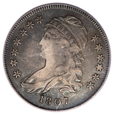 1807 50C Small Stars Capped Bust Half Dollar PCGS VF30 O-113