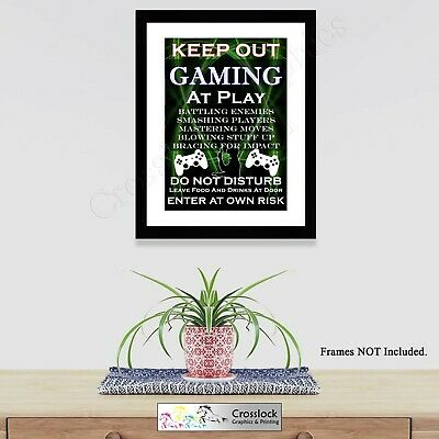 GAMING Sign Keep Out Poster Game Photo print wall art Size A4 Xbox PS4 PC Gift