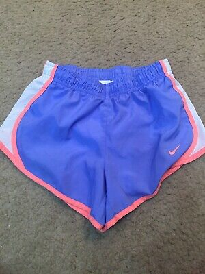 NIKE Dri-Fit Girls / Youth lined Athletic Running Shorts Light Blue size small
