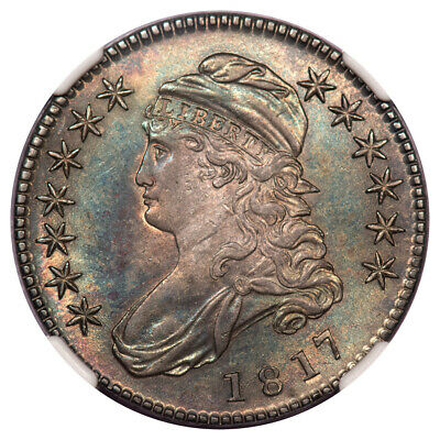 1817 Capped Bust, Lettered Edge 50C NGC MS61 O-113