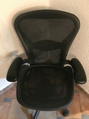 Herman Miller Aeron Office Chair, Graphite Mesh, Size 3, Ex Condition Adjustable