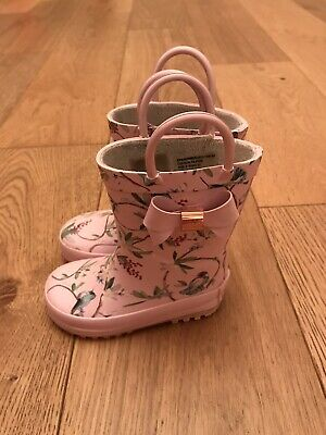 Ted Baker Girls Infant Size 5 Pink Floral Wellies