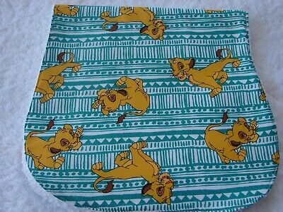 The Lion King Green Burp Cloth Cotton Front Towelling Back Handmade