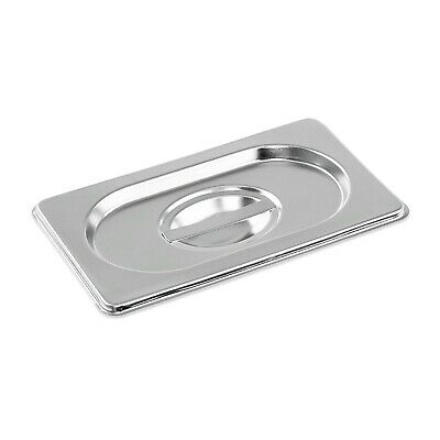 Stainless Steel Container Lid Gastronorm 1/9 Size Bain Marie Food Pan Pot Tray