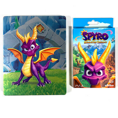 Spyro: Reignited Trilogy Special Edition Steelbook Keychain No Game PS4 Xbox One