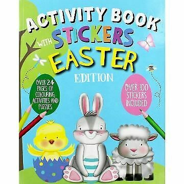 Activity Book Stickers Easter Puzzles Colouring Over 100 Stickers Fun Kids Gift