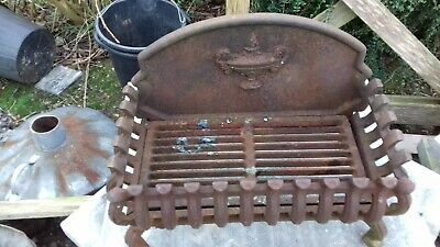 Old Heavy Cast Iron Fire Basket Fire Grate..in VGC