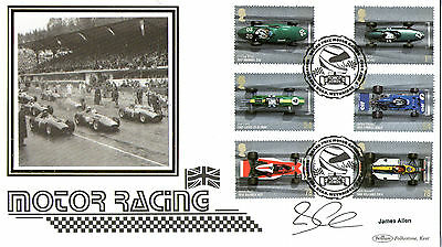 3 July 2007 Grand Prix Hand Signed James Allen Benham First Day Cover Shs