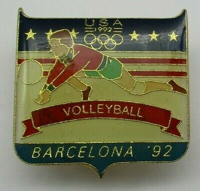 Barcelona 1992 Summer Olympic Games Team USA Volleyball Olympics Pin Badge
