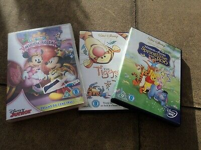 childrens dvd bundle mixed lot walt disney winnie the pooh tigger mickey mouse