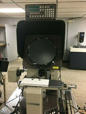 "14"" Mitutoyo Bench Top Optical Comparator, w/ Geo Chek DRO"