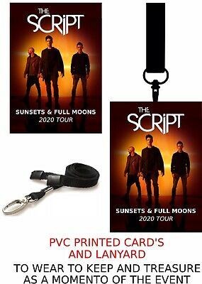 The Script Sunsets & Full Moons Tour 2020 PVC Card And Lanyard