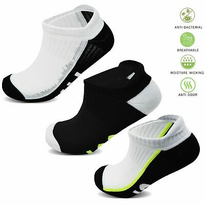Socksology® 6 Packs Mens Trainer Socks Sports Gym Liners Cushioned Sole 6-11UK